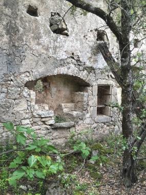 Gite Les asphodèles au printemps : maison abandonnée