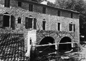 Première restauration de la magnanerie : 1967 - 1970